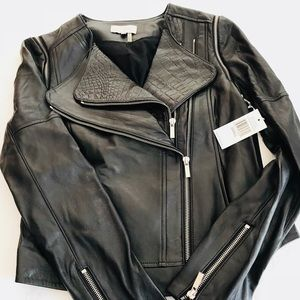 NWT**1. State***Black Biker Leather Jacket Small